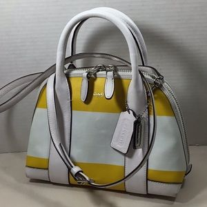 Coach Bleecker satchel bag crossbody yellow white